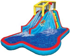 5. BANZAI Slide N Soak Splash Park Inflatable