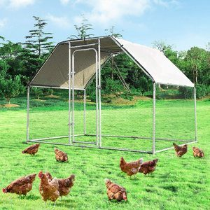 5. Giantex Large Metal Chicken Coop for Outdoor