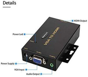 6. 1080P VGA to HDMI Converter with 3.5mm Audio Port