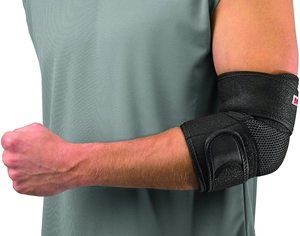 7. Mueller Adjustable Elbow Support, Black