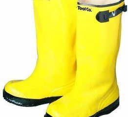 9. Bon 14-716 Heavy Duty Yellow Rubber Contractor's Overshoe Boot
