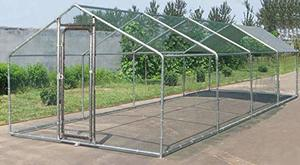 9. ChickenCoopOutlet Large Metal 26x10 ft Chicken Coop