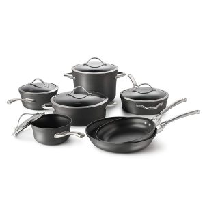 #1. Calphalon Nonstick Cookware Set, 12-Piece