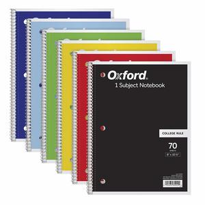 1. TOPS Oxford 1-Subject Notebooks