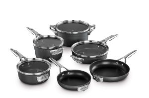 #10. Calphalon Cookware Sets Premier Space Saving Nonstick 10 Piece Set