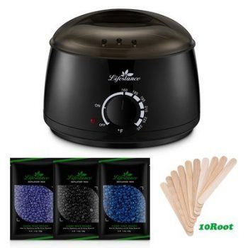 10. Lifestance Wax Warmer Hair Removal Kit with Hard Wax Beans and Applicator Sticks
