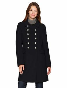 10. Women's Wool Blend Military Button Coat