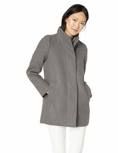 11. Women's classic wool cocoon coat