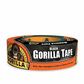 12. Gorilla 1.88'' by35 yard Black Duct Waterproof Tape