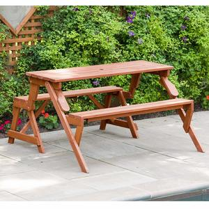 12. Leisure Season FPTB7104 Convertible Picnic Table