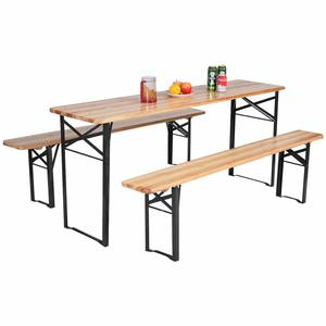 "13. Giantex 70"" 3-Piece Folding Picnic Beer Table"