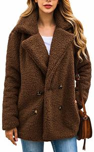 15. Women's coat casual lapel fleece