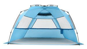 16. Pacific Breeze Easy Setup Beach Tent Deluxe XL