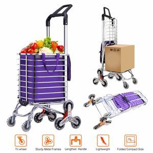 2. AmnoAmno Folding Shopping Cart