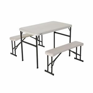 2. Lifetime 80373 Portable Picnic Table and Bench Set