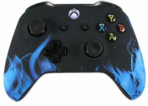 2. Xbox One Blue Flames Custom Controller
