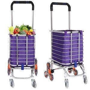 3. Folding Shopping Cart Grocery Utility Stair Climbing Cart