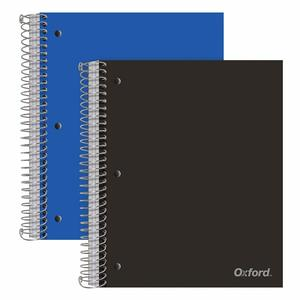 3. Oxford 3-Subject Poly Notebooks