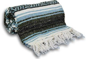3. YogaAccessories Traditional Mexican Yoga Blanket