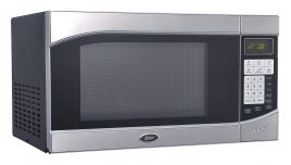 #4. Oster Compact Microwave Oven Stainless Steel