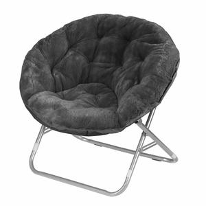 4. Urban Shop Faux Fur Saucer Chair