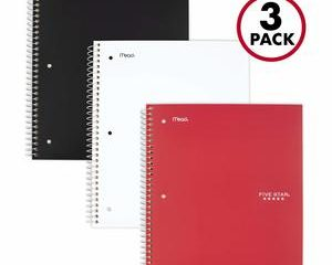 5. Five Star 2 Pocket Folder 3-Subject Notebooks