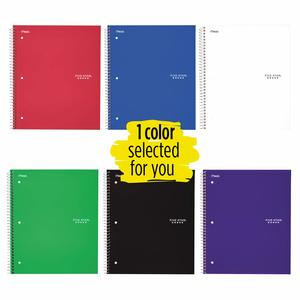 6. Five Star Spiral Notebook, 1 Subject, 100 Sheets