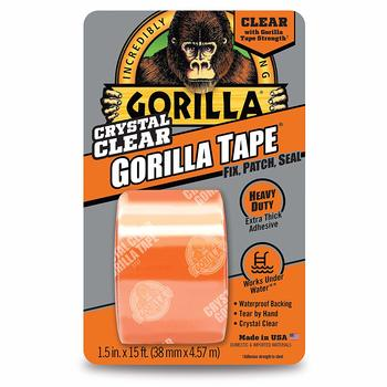 6. Gorilla Waterproof Tape by 5 yards Crystal Duct Tape