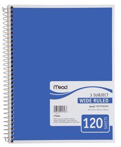 6. Mead Spiral 3-Subject Notebook