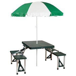 6. Stansport Picnic Table and Umbrella Comb