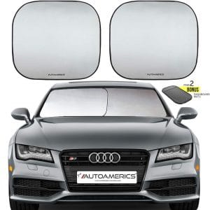 #7. Autoamerics Windshield Foldable Car Sun Shade 2-Piece