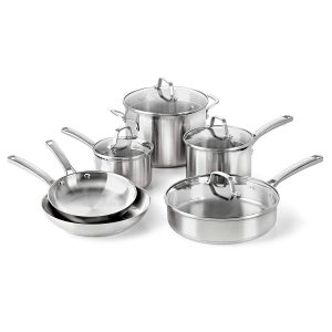 #7. Calphalon Classic Pots and Pans Set, 10-Piece