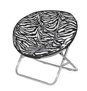 7. Urban Shop Zebra Faux Fur Saucer Chair