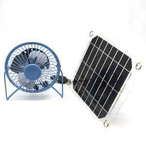 7. solar fan USB 5W Ventilation Car Cooling Fan - Solar Powered Fans