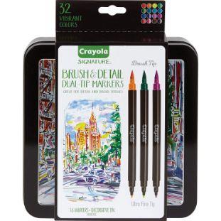 8. Crayola Brush & Detail Dual Tip Markers
