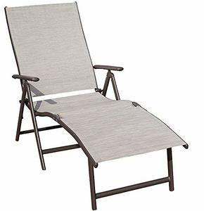8. Kozyard Cozy Aluminum Reclining Adjustable Chaise Lounge Chair