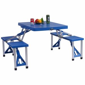 9. Gymax Portable Folding Picnic Table