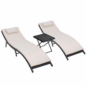 9. Homall 3 Pieces Outdoor Lounge Chair