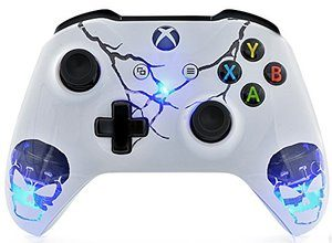 9. Skulls Blue Xbox One Modded Controller