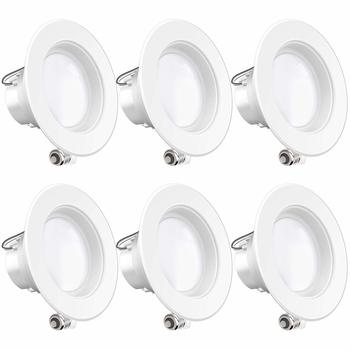 9. Sunco Lighting 4-inch 6 Pack LED Downlights 11W=40W