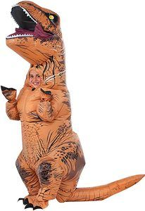 1. Rubie's Child's Jurassic World T-Rex Inflatable Costume