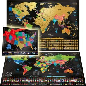 1. W WANDERLUST MAPS - Scratch Off Map