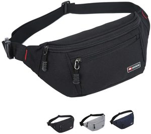 #1. ZOORON Waterproof sports waist pack bag for men and women