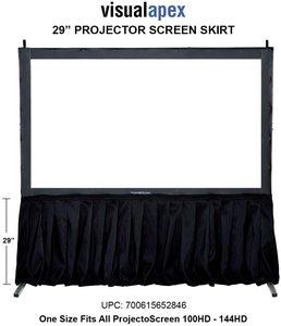 10. Visual Apex Projector Screen Skirt Drape Kit, Black