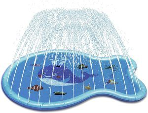 3. Wenlong Kiddie Pool Water Toy, Blue