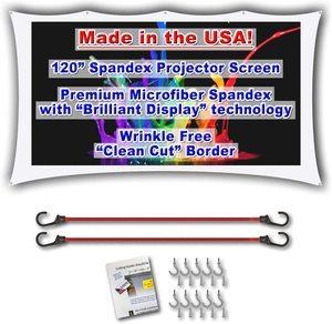 "4. 120"" inch Portable Spandex Projector Screen"