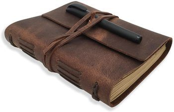 4. CooLeathor Leather Notebook