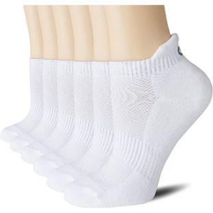 5. CelerSport Ankle Athletic Running Socks (6 Pairs)