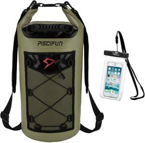 #5. Piscifun Waterproof floating dry bag backpack