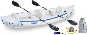 5. Sea Eagle 370 Deluxe Inflatable Portable Kayak